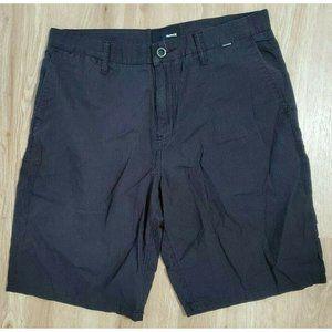 Hurley Mens Black Chino Shorts Size 33